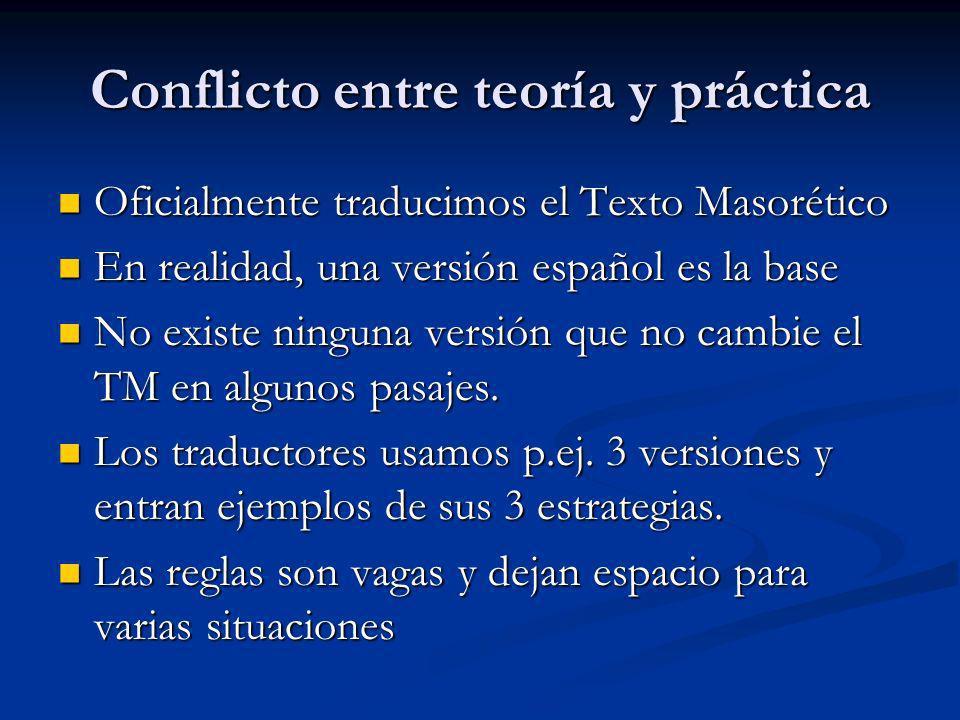Conflicto entre teoría y práctica