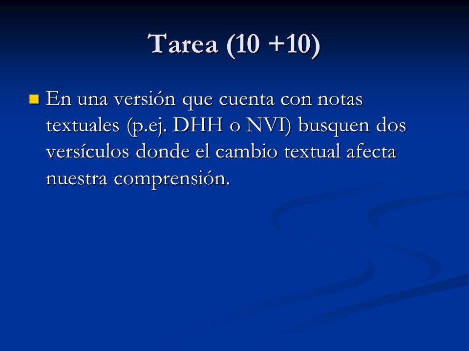 Tarea (10 +10)