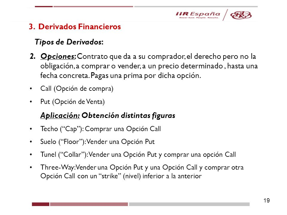 3. Derivados Financieros