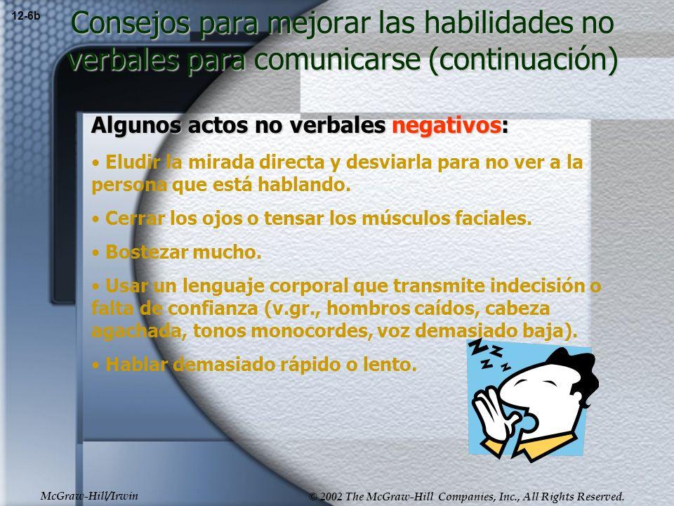 Consejos para mejorar las habilidades no verbales para comunicarse (continuación)