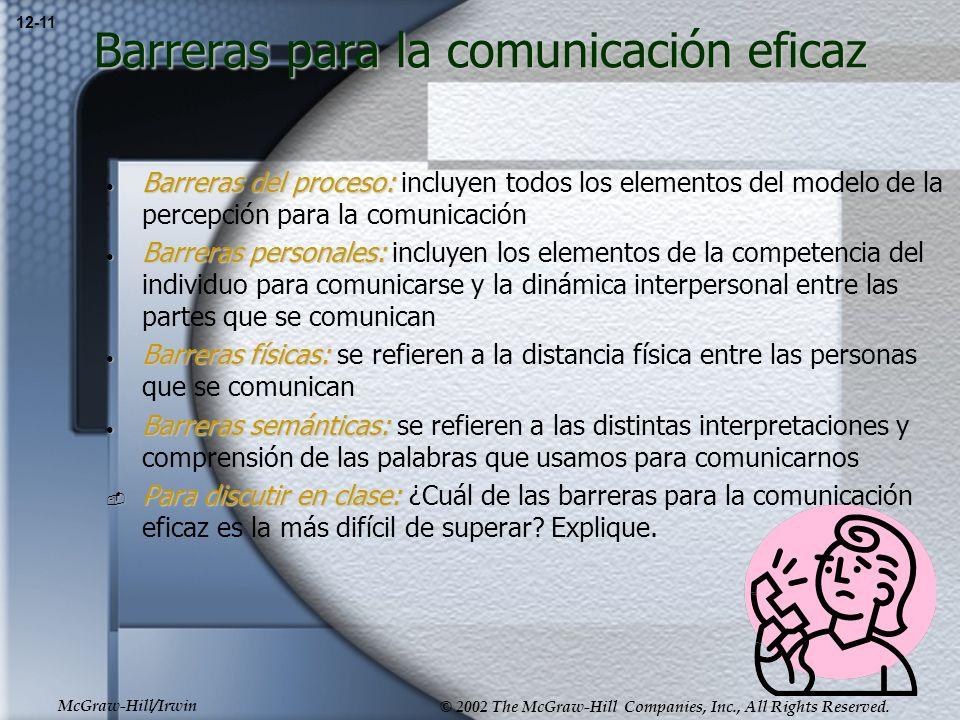 Barreras para la comunicación eficaz