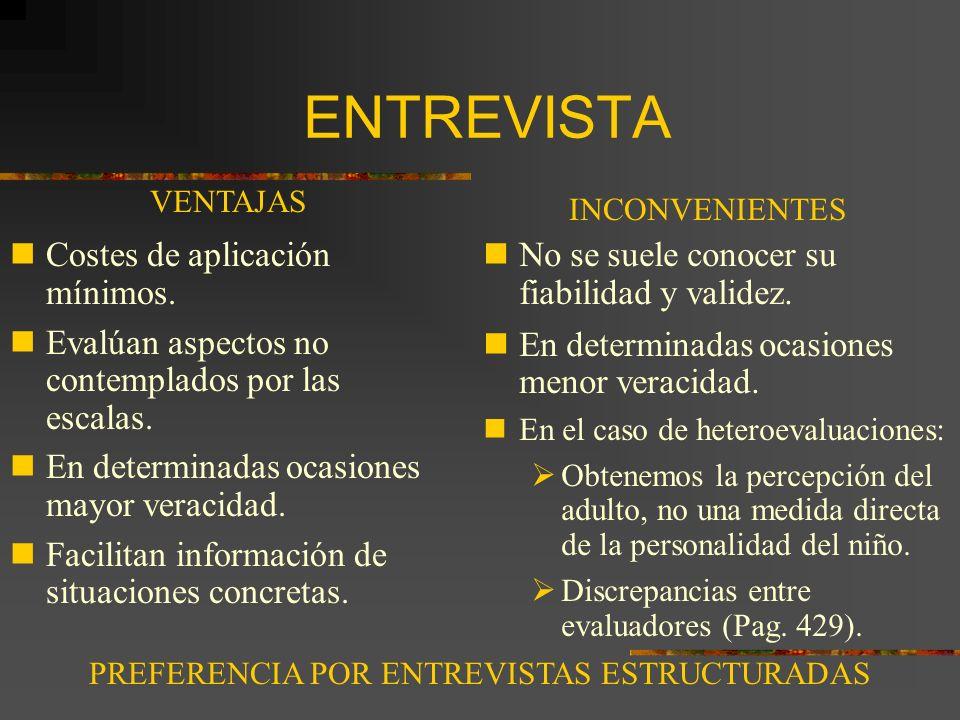 PREFERENCIA POR ENTREVISTAS ESTRUCTURADAS