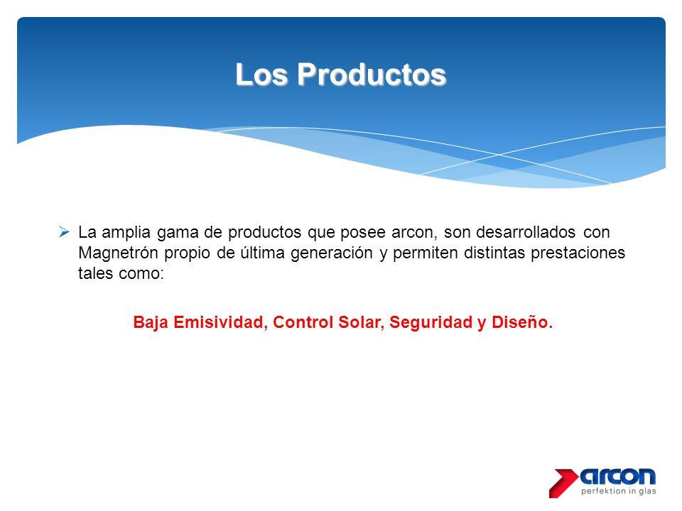 Baja Emisividad, Control Solar, Seguridad y Diseño.