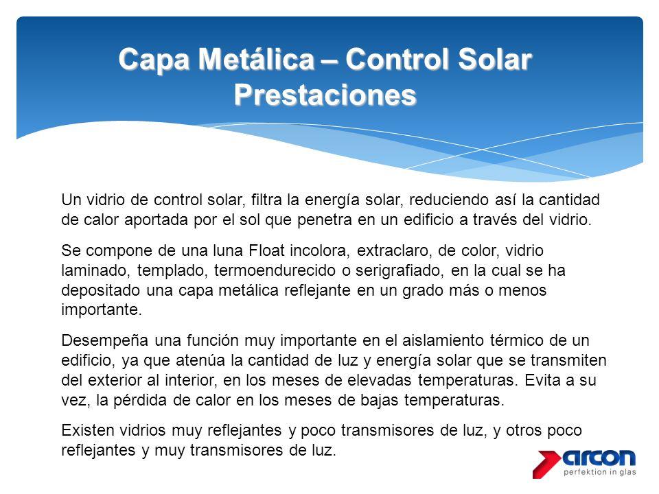 Capa Metálica – Control Solar Prestaciones