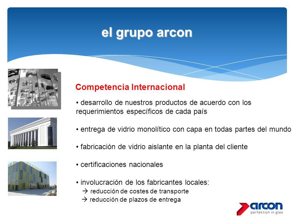el grupo arcon Competencia Internacional