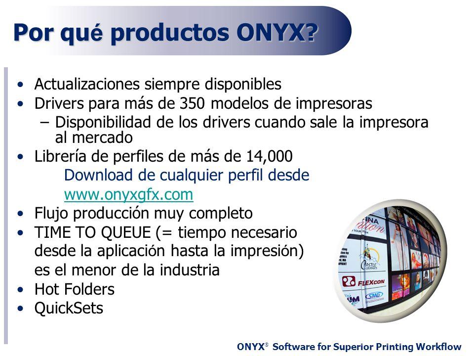 Por qué productos ONYX Actualizaciones siempre disponibles