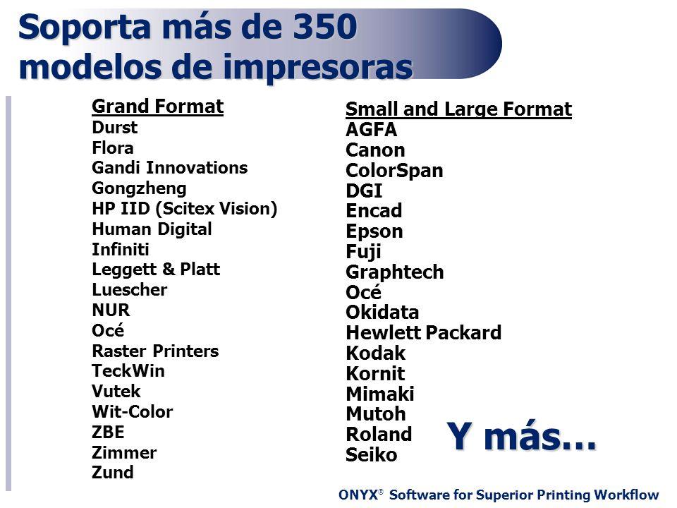 Soporta más de 350 modelos de impresoras