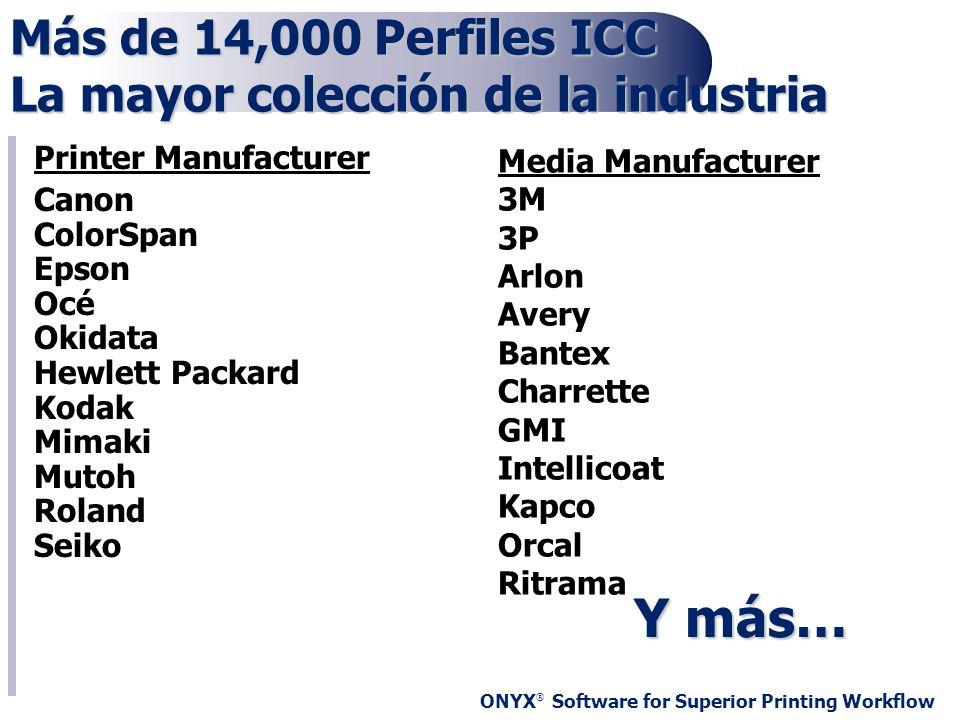 Más de 14,000 Perfiles ICC La mayor colección de la industria