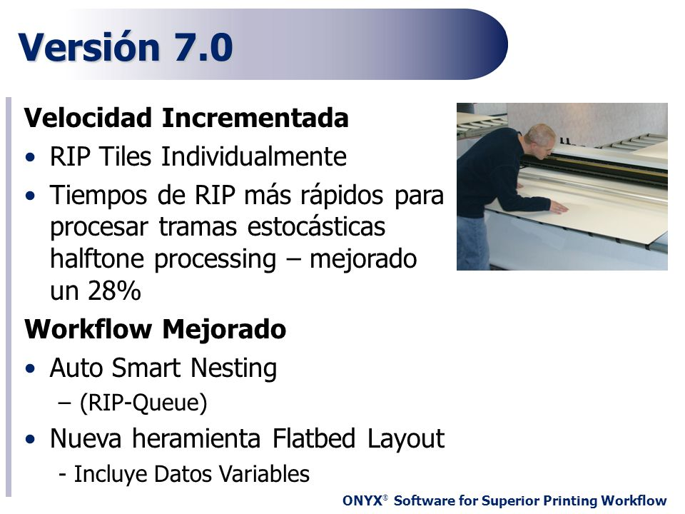 Versión 7.0 Velocidad Incrementada RIP Tiles Individualmente