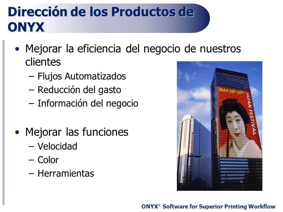 Dirección de los Productos de ONYX