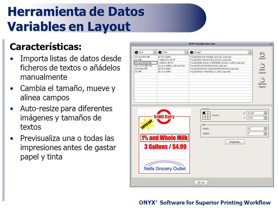 Herramienta de Datos Variables en Layout