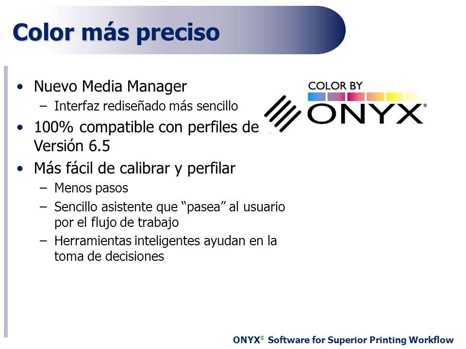 Color más preciso Nuevo Media Manager