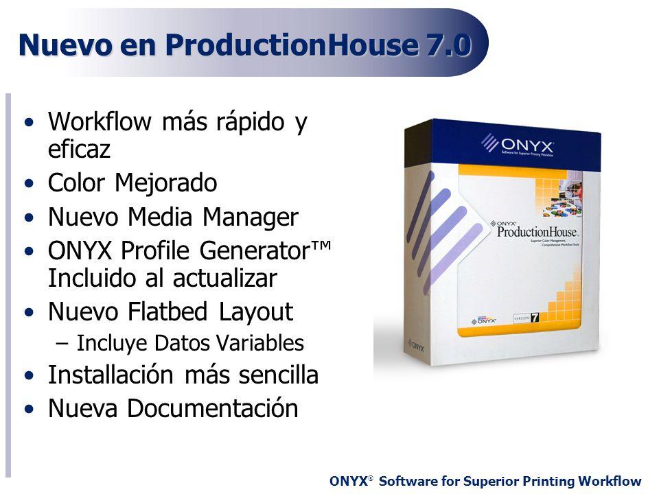 Nuevo en ProductionHouse 7.0