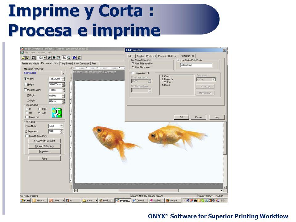 Imprime y Corta : Procesa e imprime