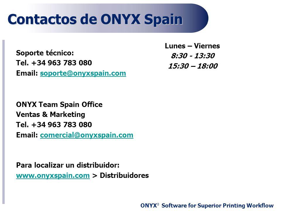 Contactos de ONYX Spain