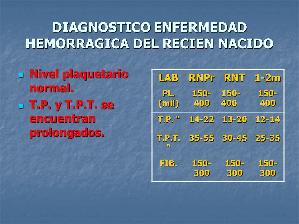 DIAGNOSTICO ENFERMEDAD HEMORRAGICA DEL RECIEN NACIDO