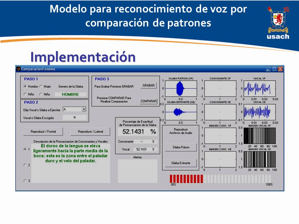 Modelo para reconocimiento de voz por comparación de patrones