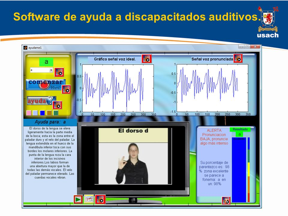 Software de ayuda a discapacitados auditivos.