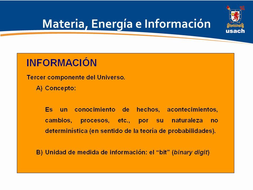 Materia, Energía e Información