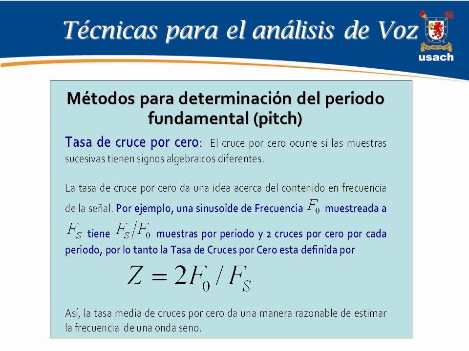 Técnicas para el análisis de Voz