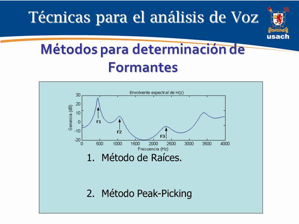 Métodos para determinación de Formantes