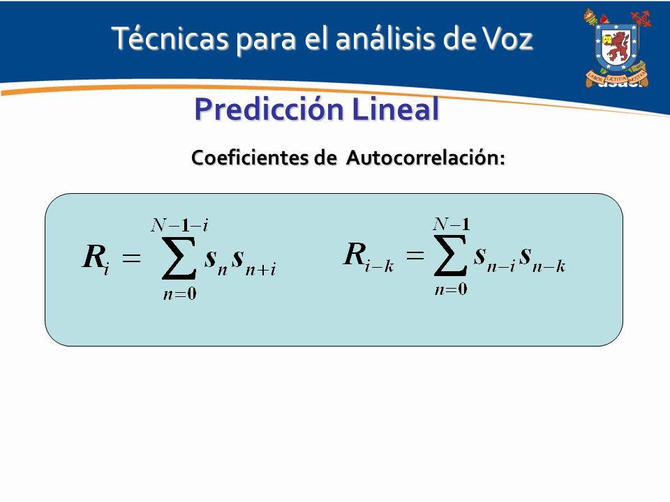 Coeficientes de Autocorrelación: