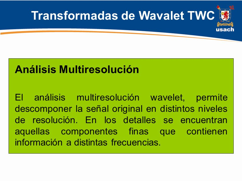 Transformadas de Wavalet TWC