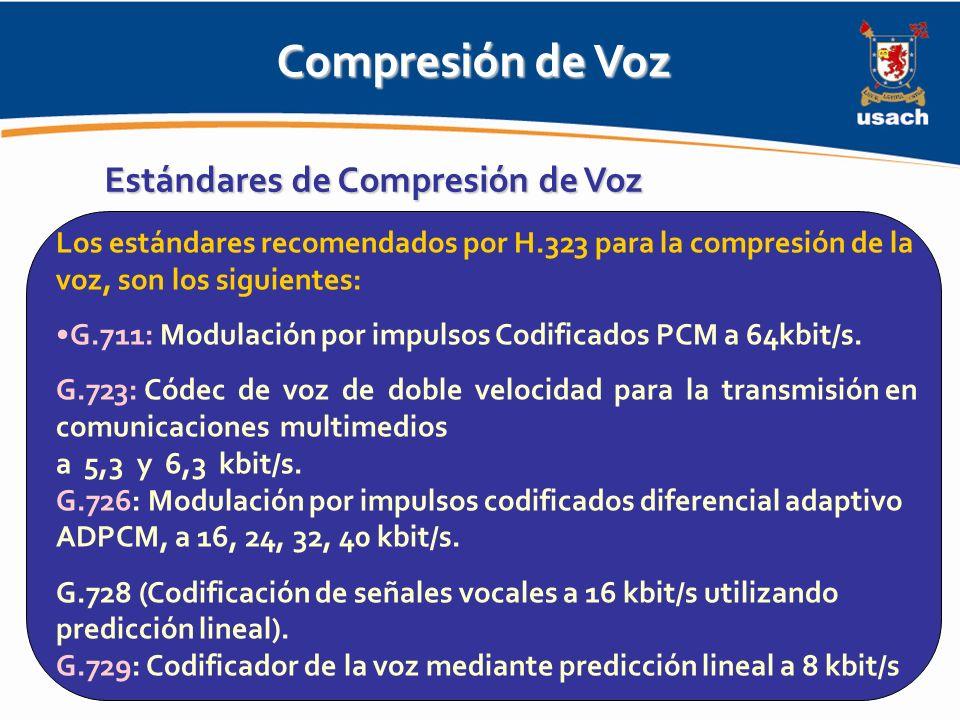 Compresión de Voz Estándares de Compresión de Voz