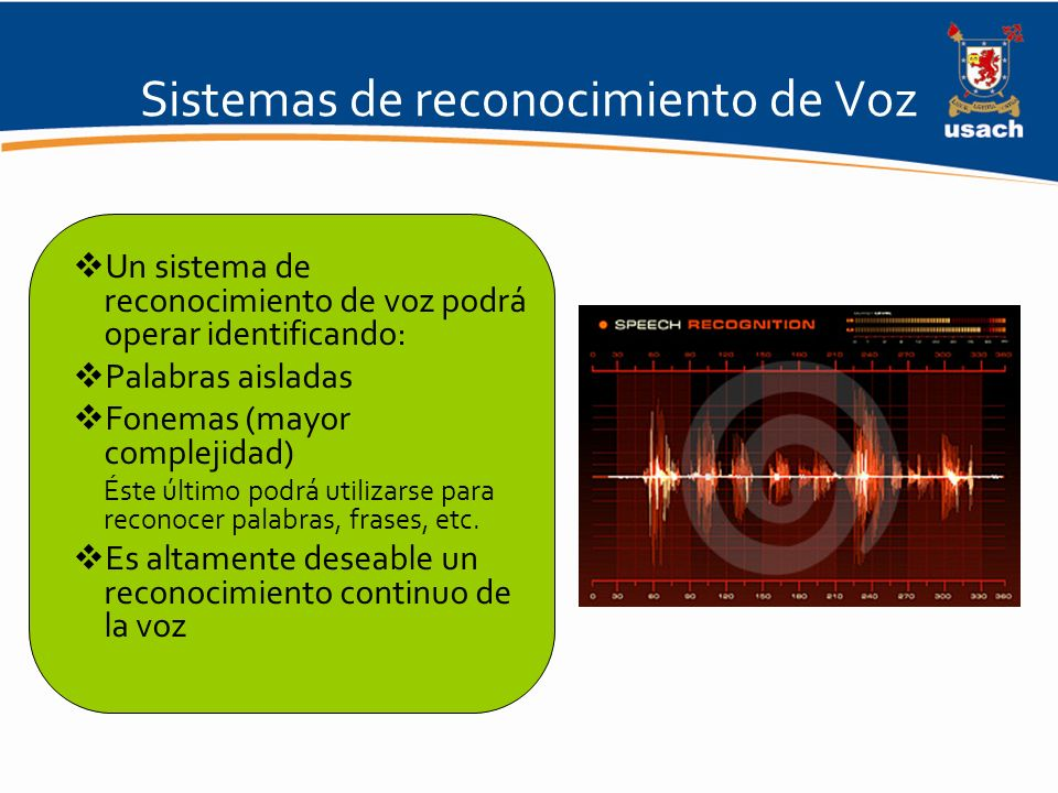Sistemas de reconocimiento de Voz