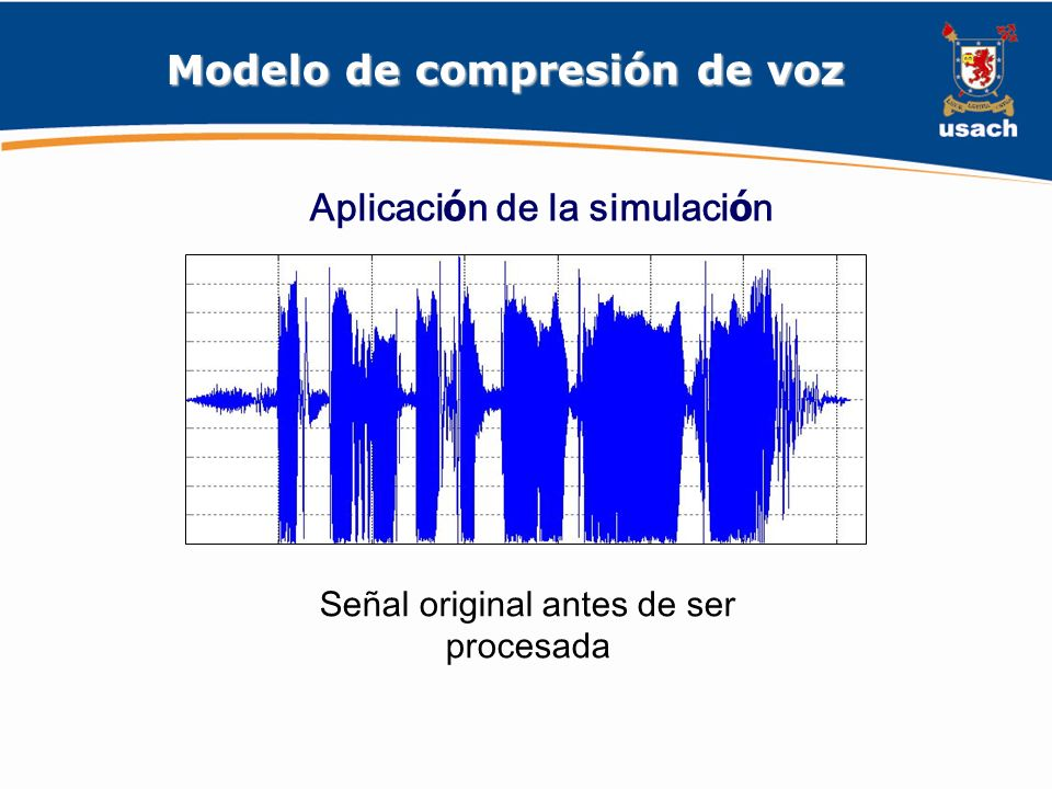 Modelo de compresión de voz Aplicación de la simulación