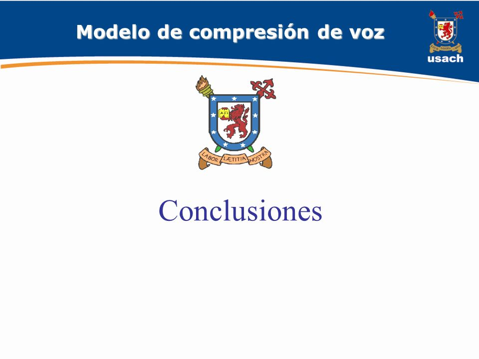 Modelo de compresión de voz