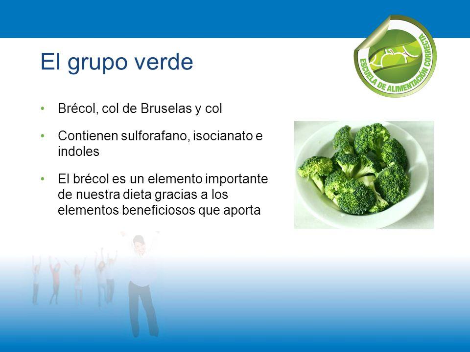 El grupo verde Brécol, col de Bruselas y col