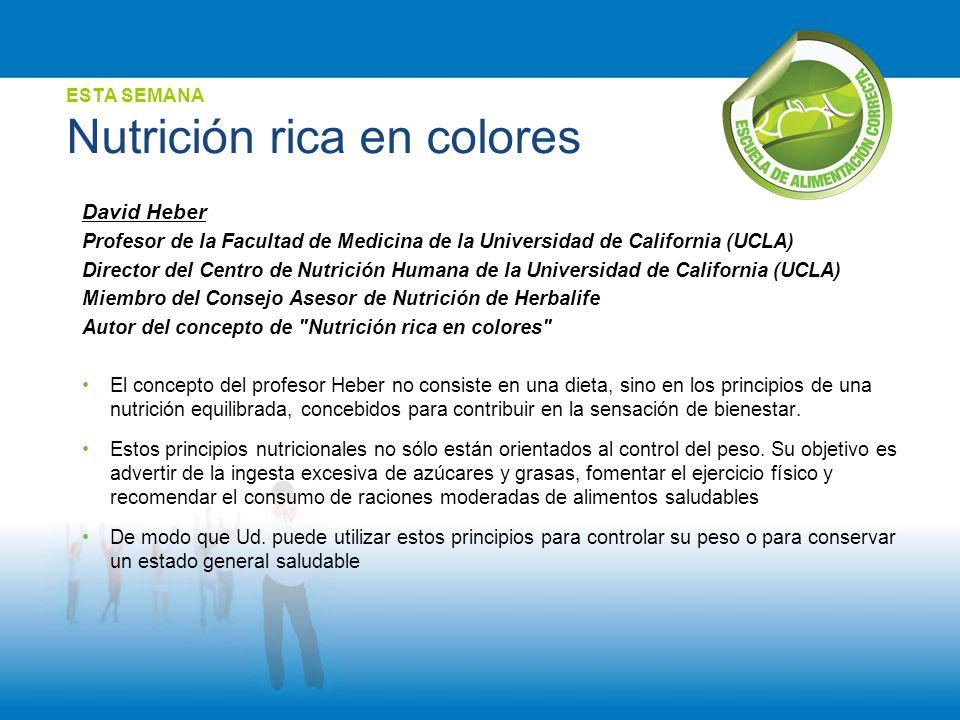 ESTA SEMANA Nutrición rica en colores