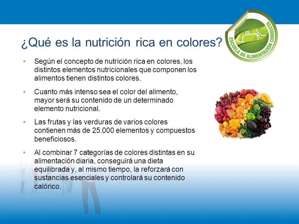 ¿Qué es la nutrición rica en colores