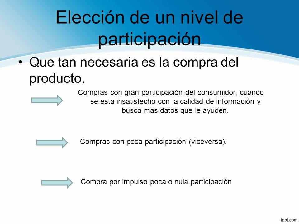 Elección de un nivel de participación
