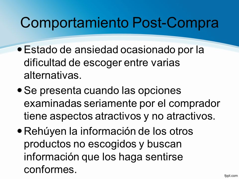 Comportamiento Post-Compra