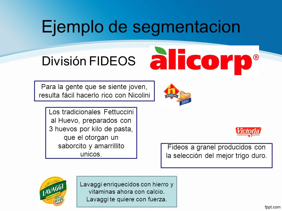 Ejemplo de segmentacion