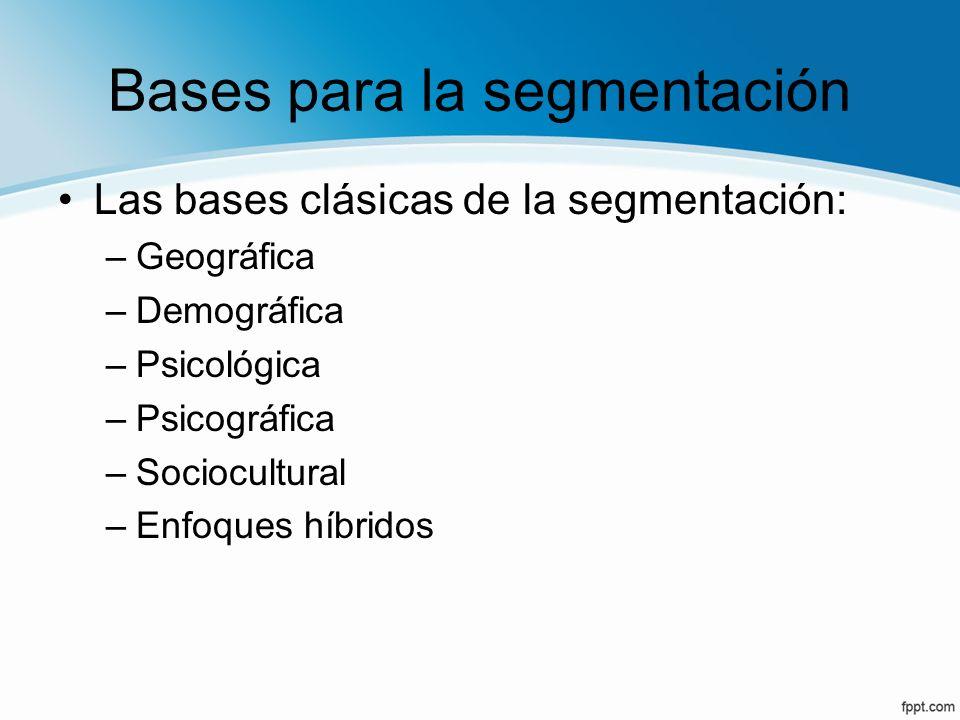 Bases para la segmentación