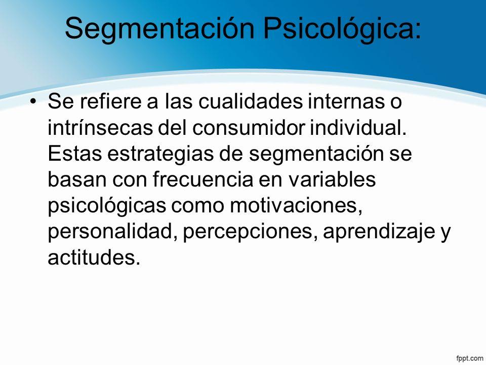 Segmentación Psicológica: