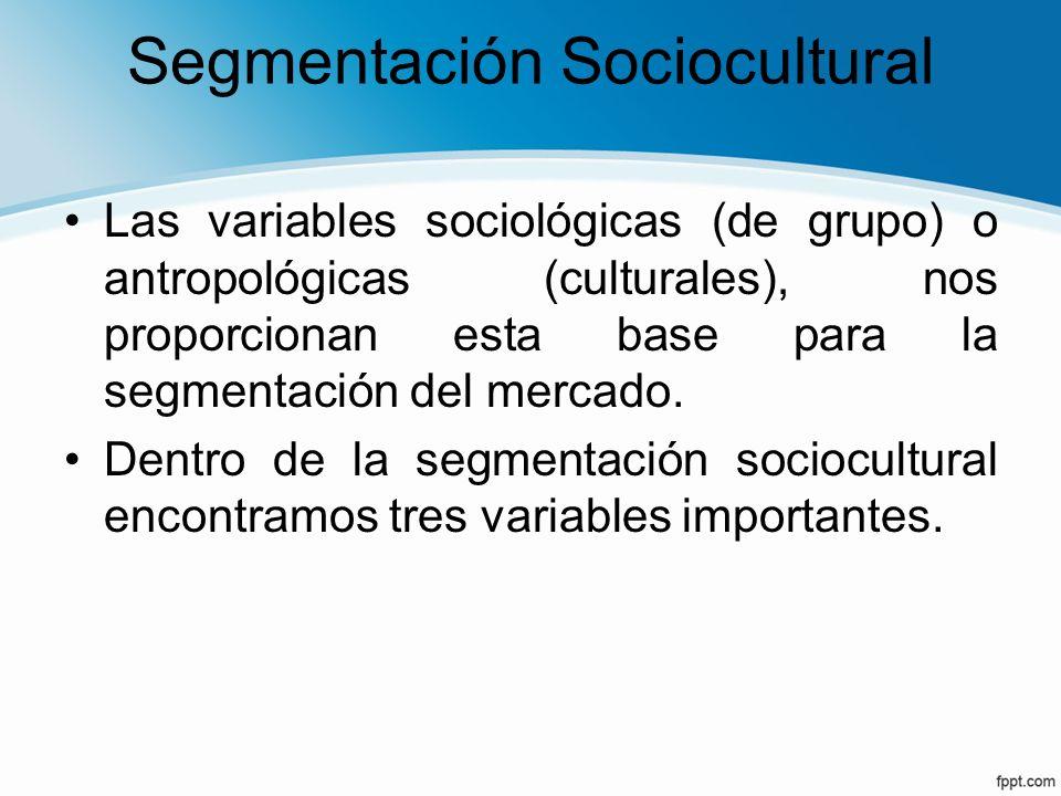 Segmentación Sociocultural
