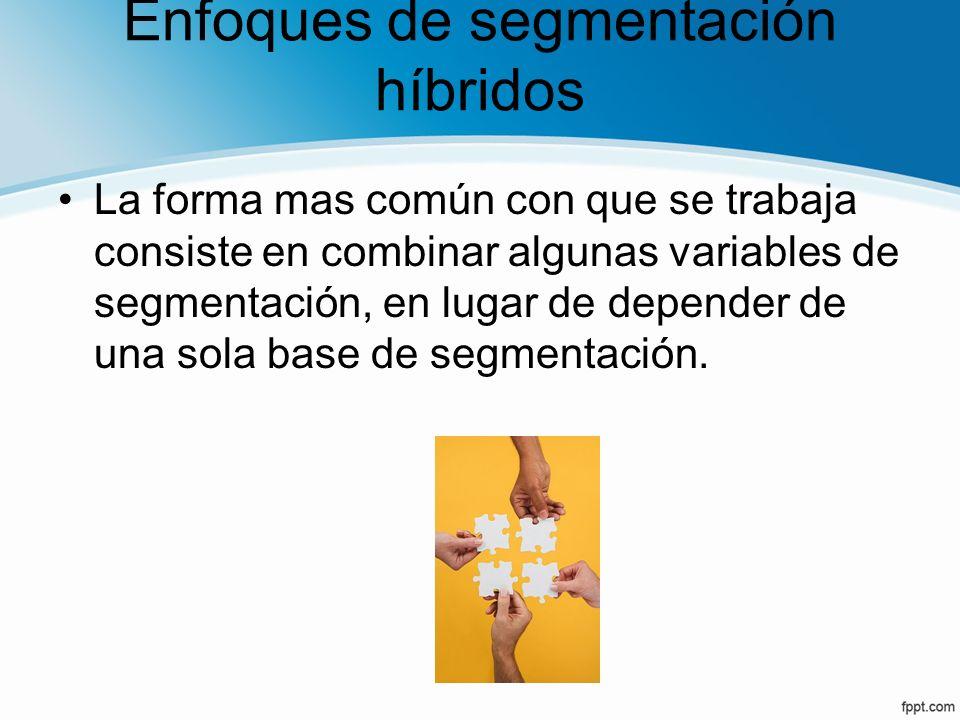 Enfoques de segmentación híbridos