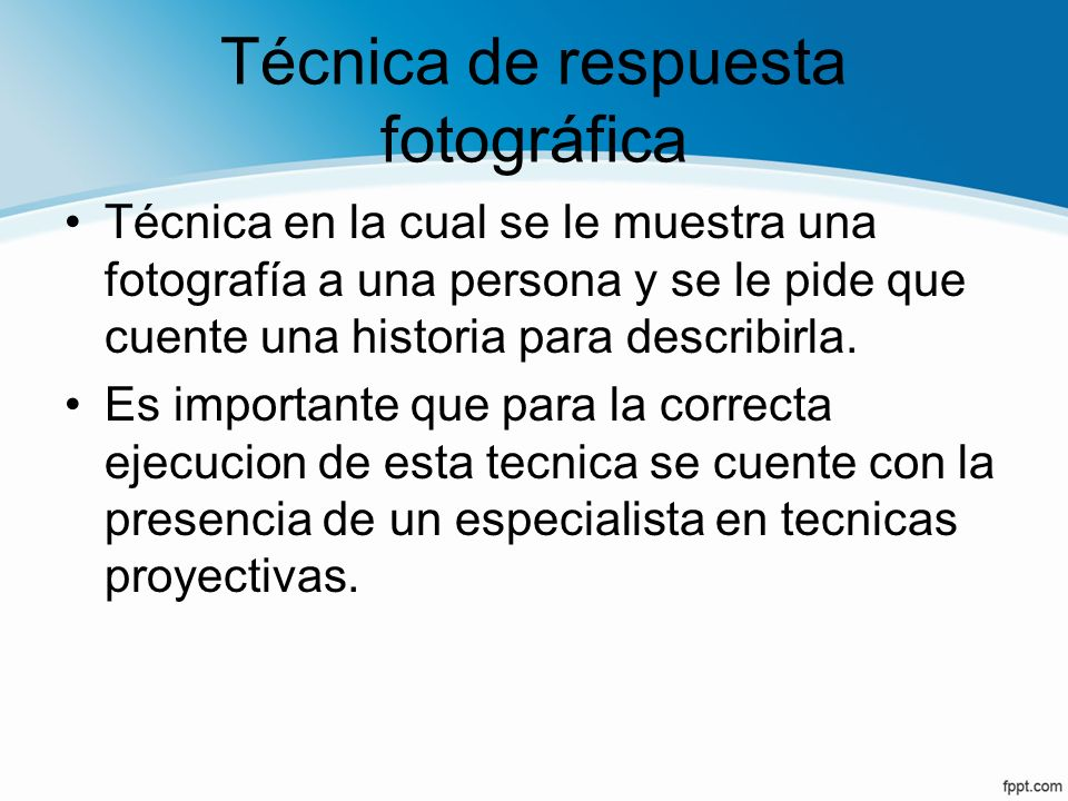 Técnica de respuesta fotográfica