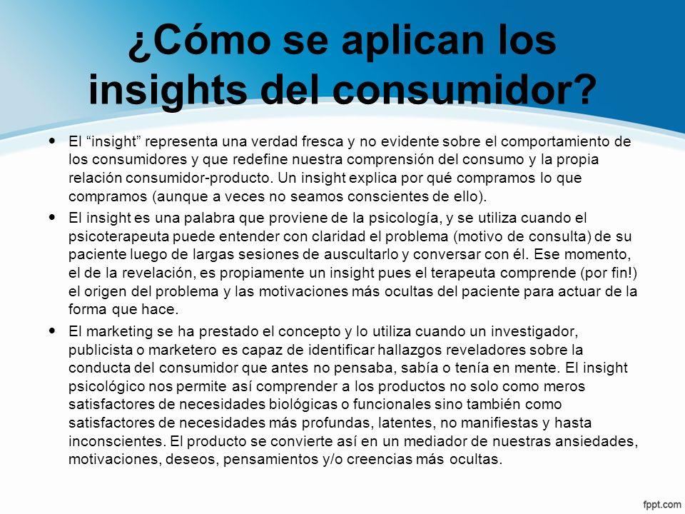 ¿Cómo se aplican los insights del consumidor