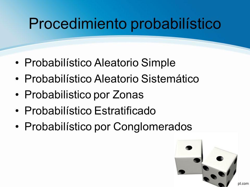 Procedimiento probabilístico