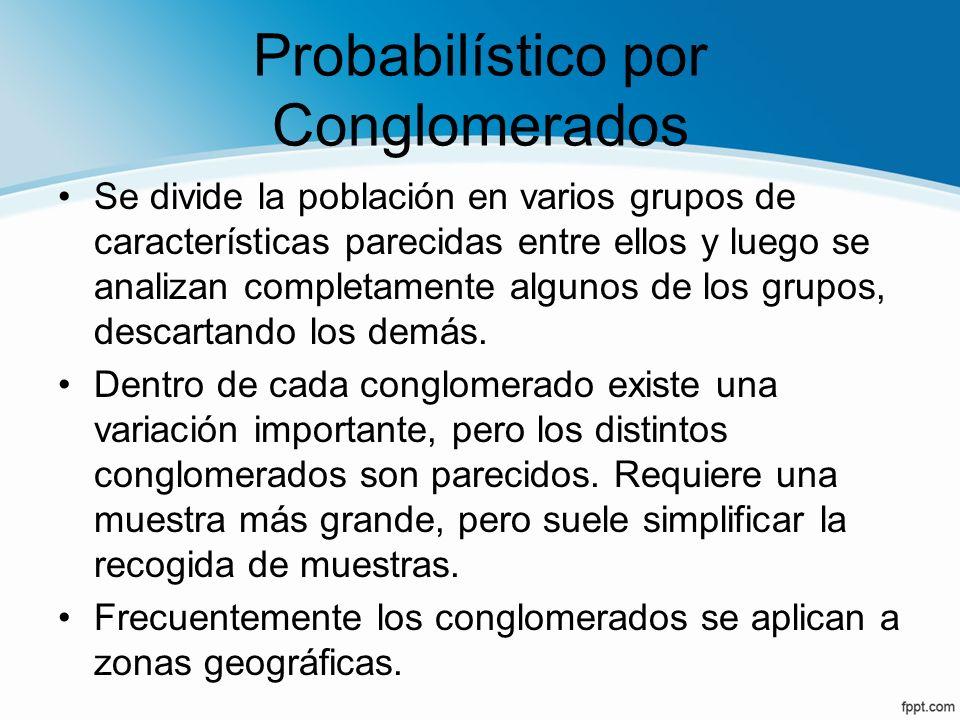 Probabilístico por Conglomerados