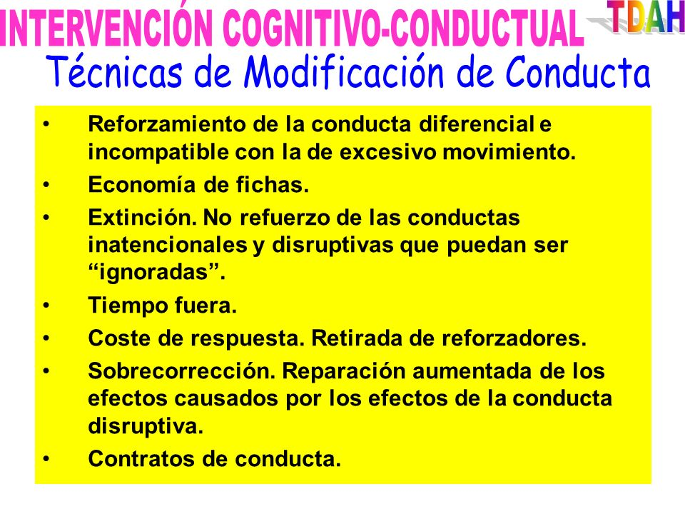 INTERVENCIÓN COGNITIVO-CONDUCTUAL TDAH
