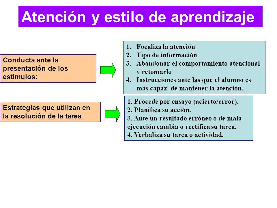 Atención y estilo de aprendizaje