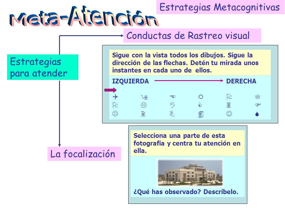Meta-Atención Estrategias Metacognitivas Conductas de Rastreo visual