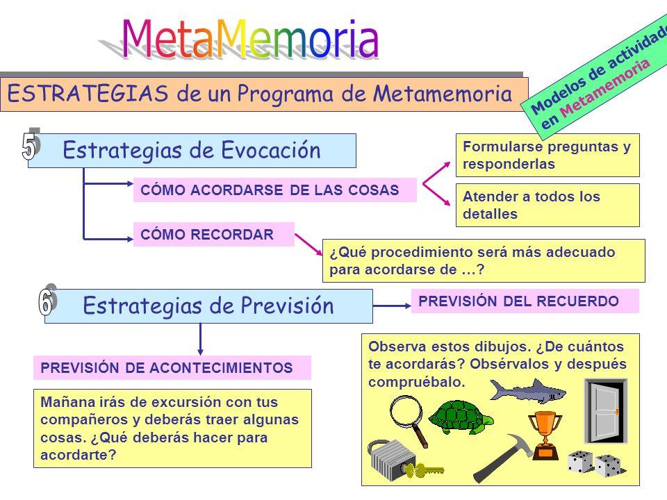 MetaMemoria ESTRATEGIAS de un Programa de Metamemoria