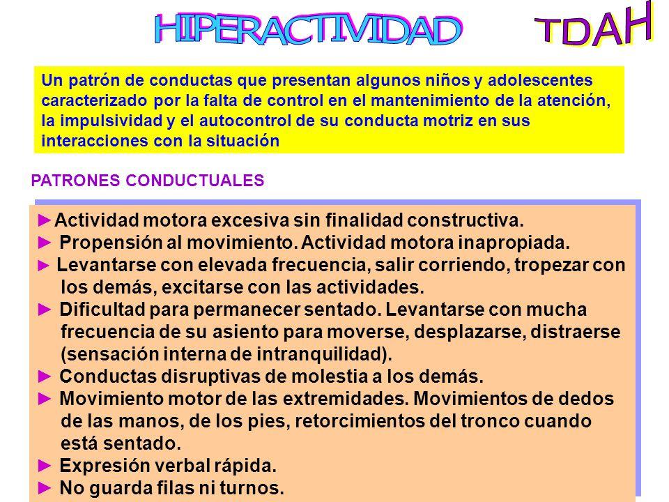 TDAH HIPERACTIVIDAD.
